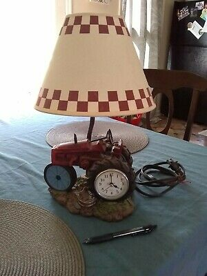 """Vintage Tractor 12"""" Table Lamp & shade"""
