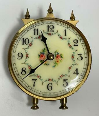 Forestville GERMAN Brass Anniversary Mantel Clock PART ONLY Porcelain Face 4""