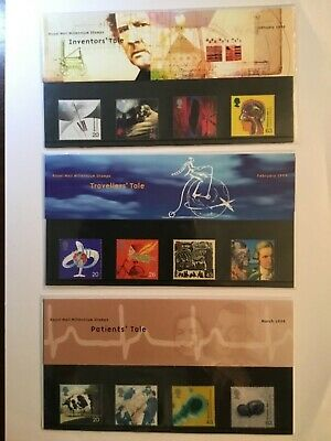 GB Stamps 1999 Millennium Series All 12 Presentation Packs cat value £39 was £89