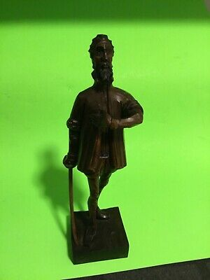 Vintage Ouro Artesania Don Quixote Man Wood Carved Figurine Made In Spain