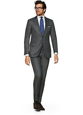 Suitsupply Lazio Mid Grey Plaid Check Wool Suit SOLD OUT 40R NWT
