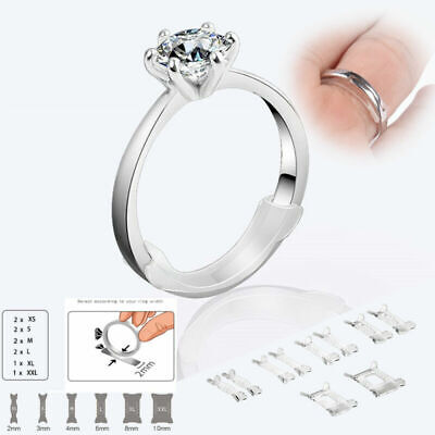 10pc Invisible Design Ring Size Adjuster Resizing Insert Guard Tightener Reducer