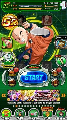 [Instant Delivery] Dokkan Battle Global farmed account 3100 Stones - Android