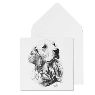 Mike Sibley Golden Retriever Dog Breed Blank Greeting Card for all occasions