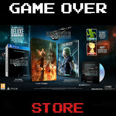 Final Fantasy 7 VII Remake Deluxe Edition Ps4 Playstation 4 Italia Nuovo