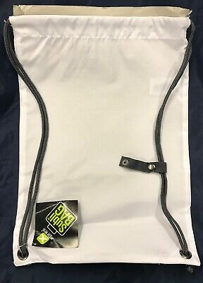 Sublimation Gym school drawstring bag - White Plain - x 7 JOB LOT