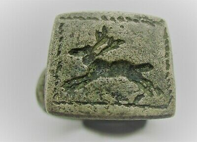 Detector Finds Ancient Roman Silver Seal Ring With Stag On Bezel