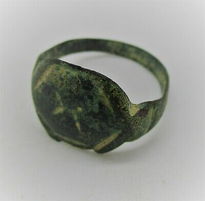 Detector Finds Ancient Roman Bronze Ring With Numeral 'X' On Bezel