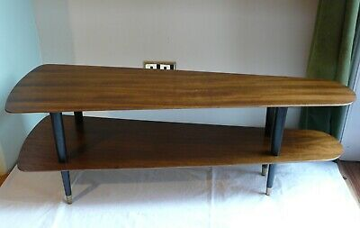 Retro Vintage Mid-Century Long Teak Coffee Table 1950's 1960's