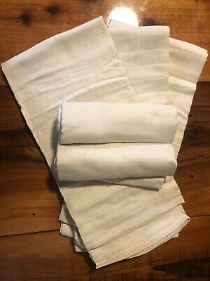Organic 100% Unbleached Organic Cotton Cloth Diapers/Muslim Blankets 5pk