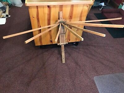 Antique Wooden PERFECTION Clothes Drier drying rack L. Hopkins North Girard, PA
