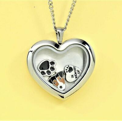 Jack Russell Heart Memory Locket Necklace, Dog Keepsake Jewelry, Terrier Gift