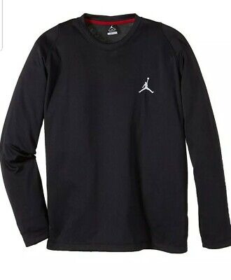 Nike Air Jordan Dri Fit Top, Black/Black/White Sz XL