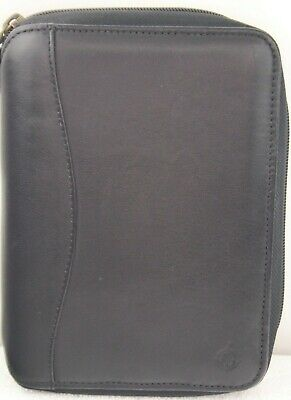 Franklin Covey Spacemaker Planner Black Genuine Leather 20629.190 Zipper PDA
