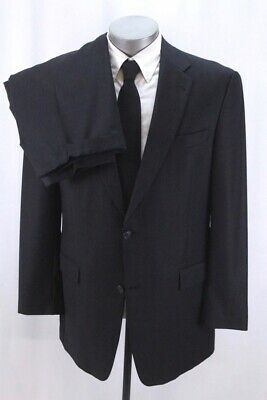 mens charcoal HART SCHAFFNER MARX 2pc PANT SUIT two button classic wool 42 L