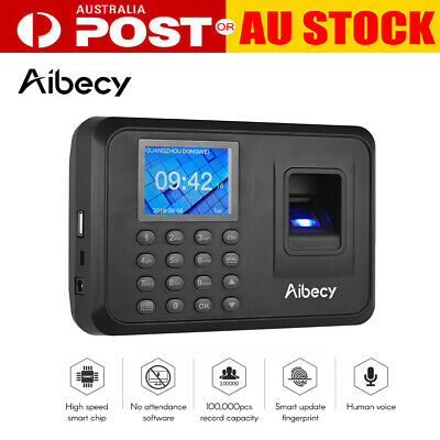 Aibecy Biometric Fingerprint Password Attendance Multi-language Machine AU T0Z8