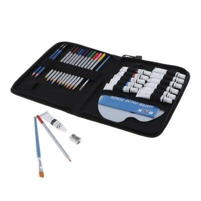 Pro Watercolor Pencils Brushes Adults Beginners Drawing Writing Art Tools Kit