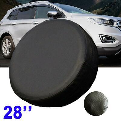 "28"" DIY Trailer Spare Tire Tyre Wheel Cover Pure Black Heavy Duty Vinyl Material"