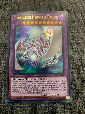 YuGiOh - Chimeratech Megafleet Dragon - LEDD-ENB00 - Ultra - 1st Edition - NM+