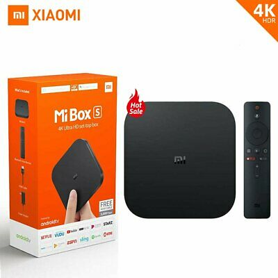 Xiaomi Mi Box S Lecteur multimédia en streaming HDR Assistant Android 8.1 TV Box