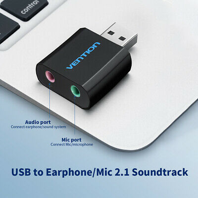 VENTION USB External Sound Card 3.5mm Stereo Earphone Adapter for PC Laptop S9M6
