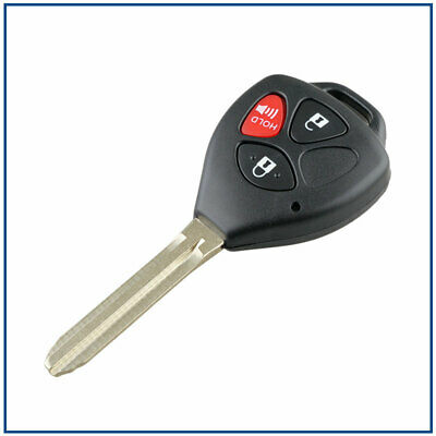 New Uncut Keyless 3 Button Remote Head Key Fob for Toyota Scion MOZB41TG 4D67 Chip; by AutoKeyMax Single