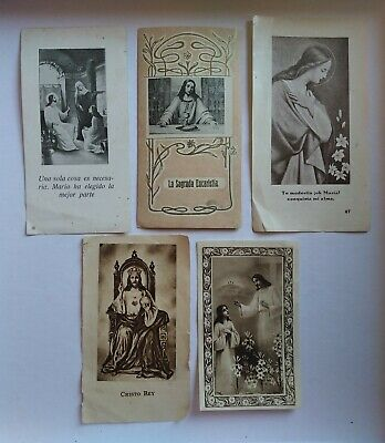lote 5 estampas religiosas antiguas VARIAS holy card