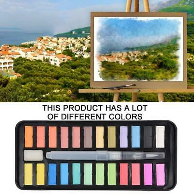 24 Watercolour Paint Set With Brush Painting Water Colour Art Artist Kits NEW