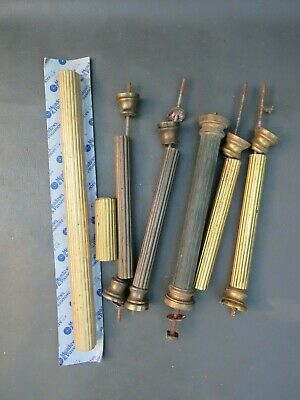Job lot of vintage & modern metal clock case column parts - parts spares repair