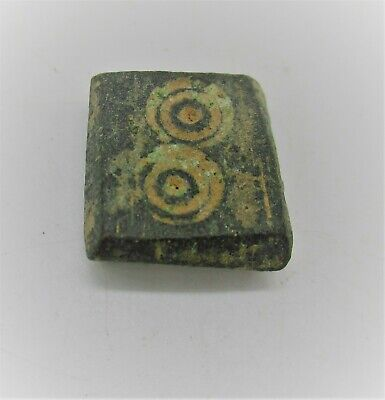 AUTHENTIC BYZANTINE PERIOD BRONZE CUBE SOLIDUS WEIGHT 6g