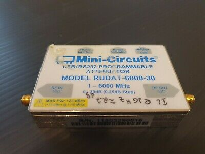 Mini-Circuits RUDAT-6000-30 Programmable Attenuator 0–30dB/0.25dB 1 to 6000MHz