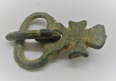 Detector Finds Ancient Byzantine Crusaders Cross Shaped Buckle Rare