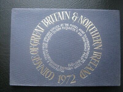 UK British 1972 Royal Mint Proof 7 Coin Set 1/2 ~ 50 Pence & Jubilee Crown Case