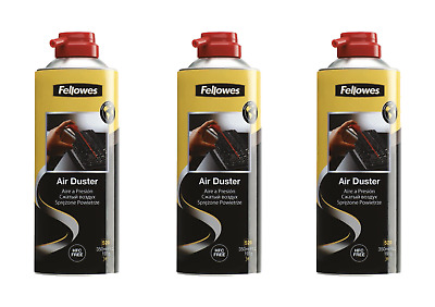 FELLOWES Air Duster Can , PC Keyboard Printer Dust Cleaner - 3 x 350ml