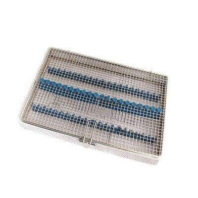 Dental Perforated Sterilization Cassette Mesh Tray For 20 Instruments Surgical