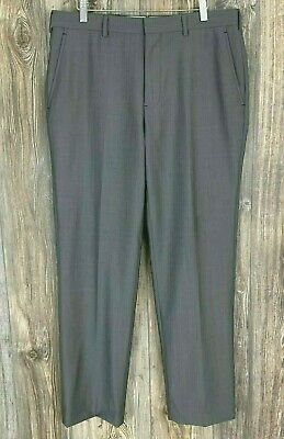 "Brooks Brothers ""Fitzgerald"" Dress Pants Men's 35/31 Grey Wool/Mohair Career"