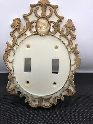 Vintage Mid Century Modern Cameo Light Switch Cover Plate Plastic