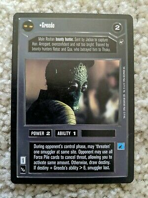 Star Wars CCG BB Limited Dagobah Visage of the Emperor SWCCG NrMint-MINT
