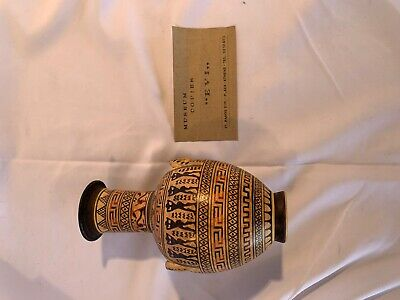 Ancient Greece Plaka Athens Museum Reproduction HandMade Pottery Jug Pitcher urn