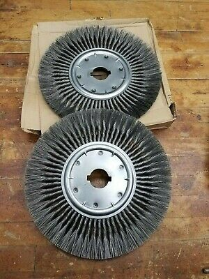 2Pc Lot Advance 81777 Knot Wheel Brush 15in Dia x 2in AH Standard Twist 3600 RPM