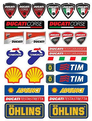 Ducati 200mm x2 Fairing Stickers Decals Panigale 899 959 1199 1299 FREE POST