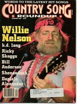 Country Song Roundup Magazine December 1989 Willie Nelson k.d. lang Ricky Skaggs