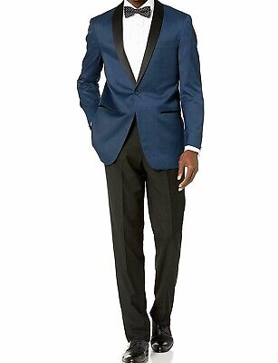 London Fog Mens Suits Blue Size 54 Shawl-Collar One-Button Tuxedo $299 571