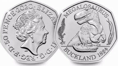 50p Megalosaurus Dinosaur Fifty Pence Coin Brand New  SEALED 2020 NEW RELEASE!!!