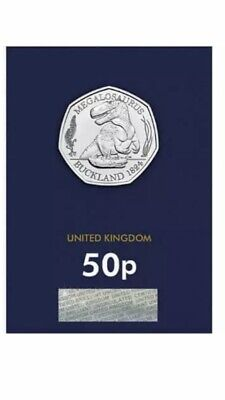 2020 UK MEGALOSAURUS 50P  Certified UNCIRCULATED COIN - OFFICIAL UK ISSUE