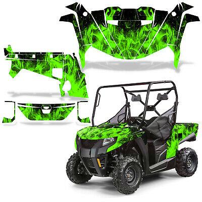 Arctic Cat Thundercat 1000 ATV Left /& Right Side Decals Silver /& Green Pair