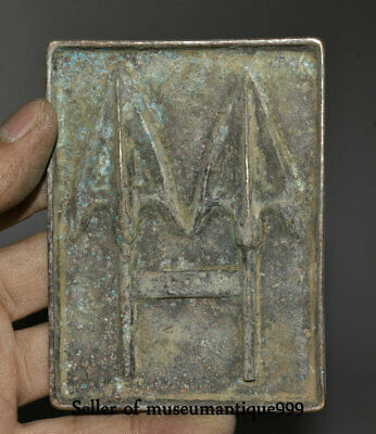 9.8CM Rare Ancient Chinese Bronze Ware Dynasty Warrior Mould pattern die