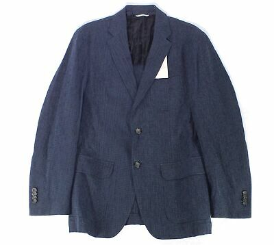 OOBE BRAND Mens Blazer Navy Blue Size Medium M Seersucker Two Button