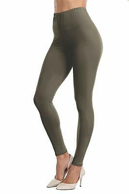 VOGUEMAX Womens Ankle Length Leggings Buttery Soft High Waisted Stretch Basic So
