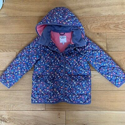 Marks And Spencer M&S Girls Padded Coat Age 4-5 Floral Hood